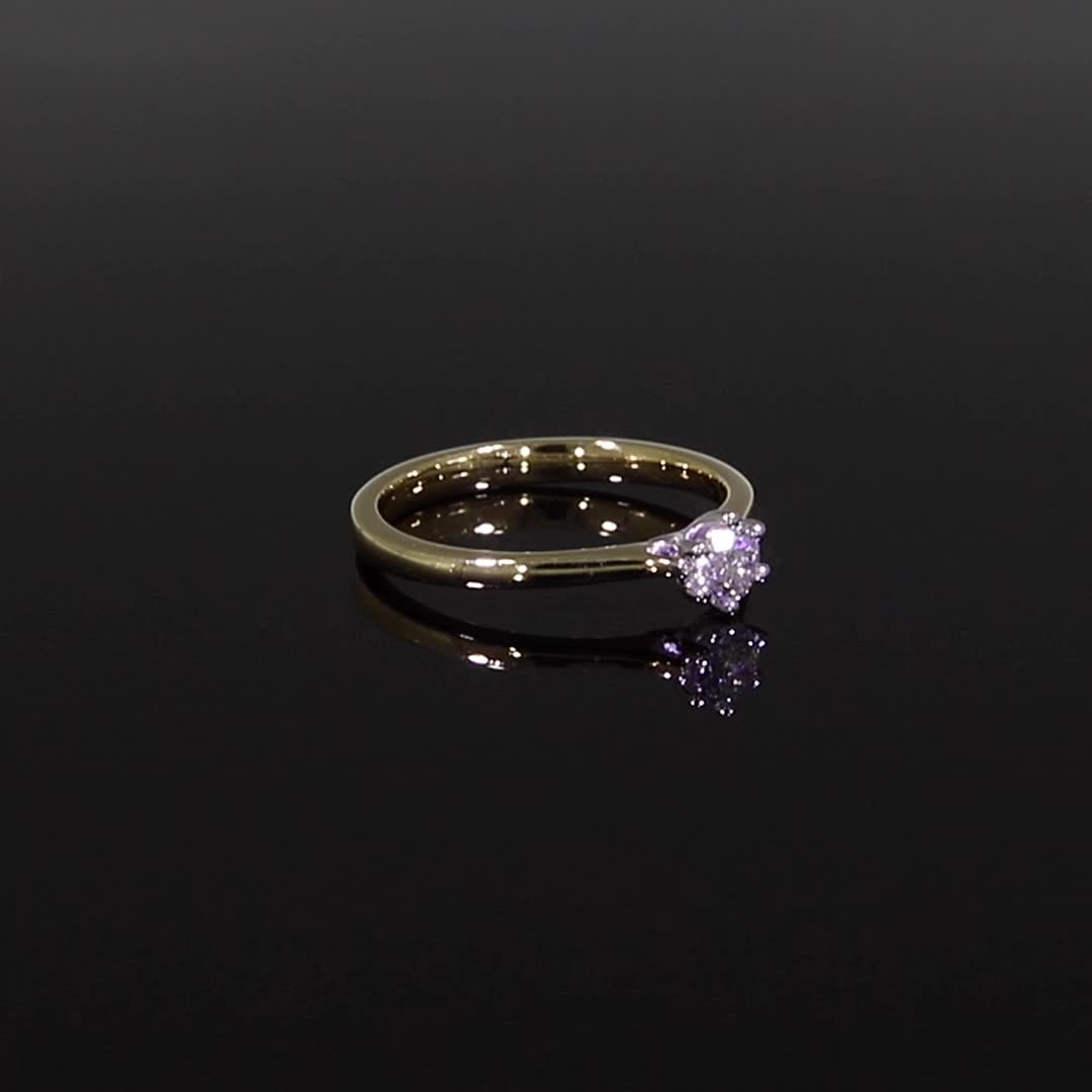 0.30CT Diamond Solitaire Ring<br /> Yellow Gold and Platinum Gaia Setting