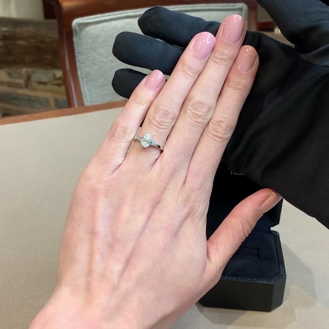 1.20CT Diamond Solitaire Ring<br /> Platinum Regency Setting