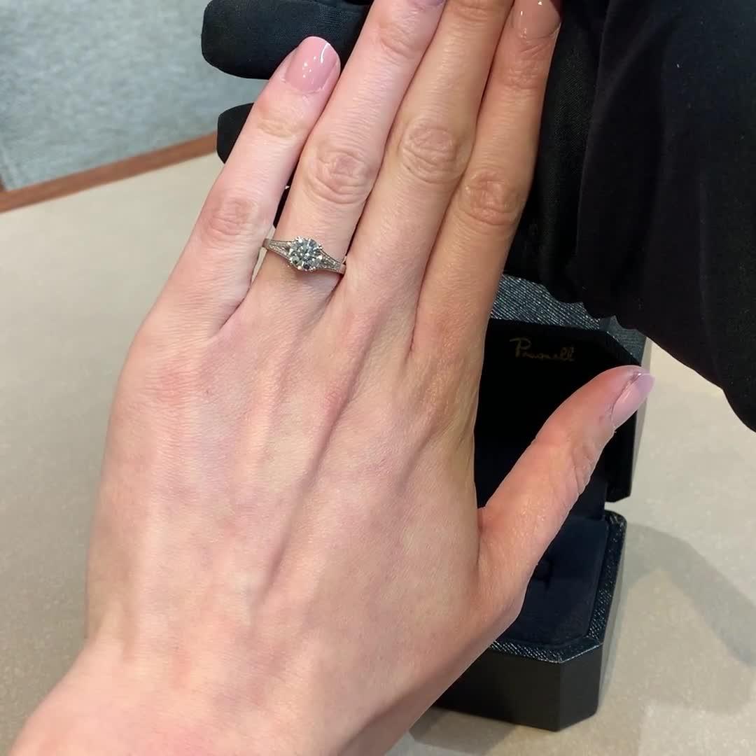 1.30CT Diamond Solitaire Ring<br /> Platinum Imperial Setting
