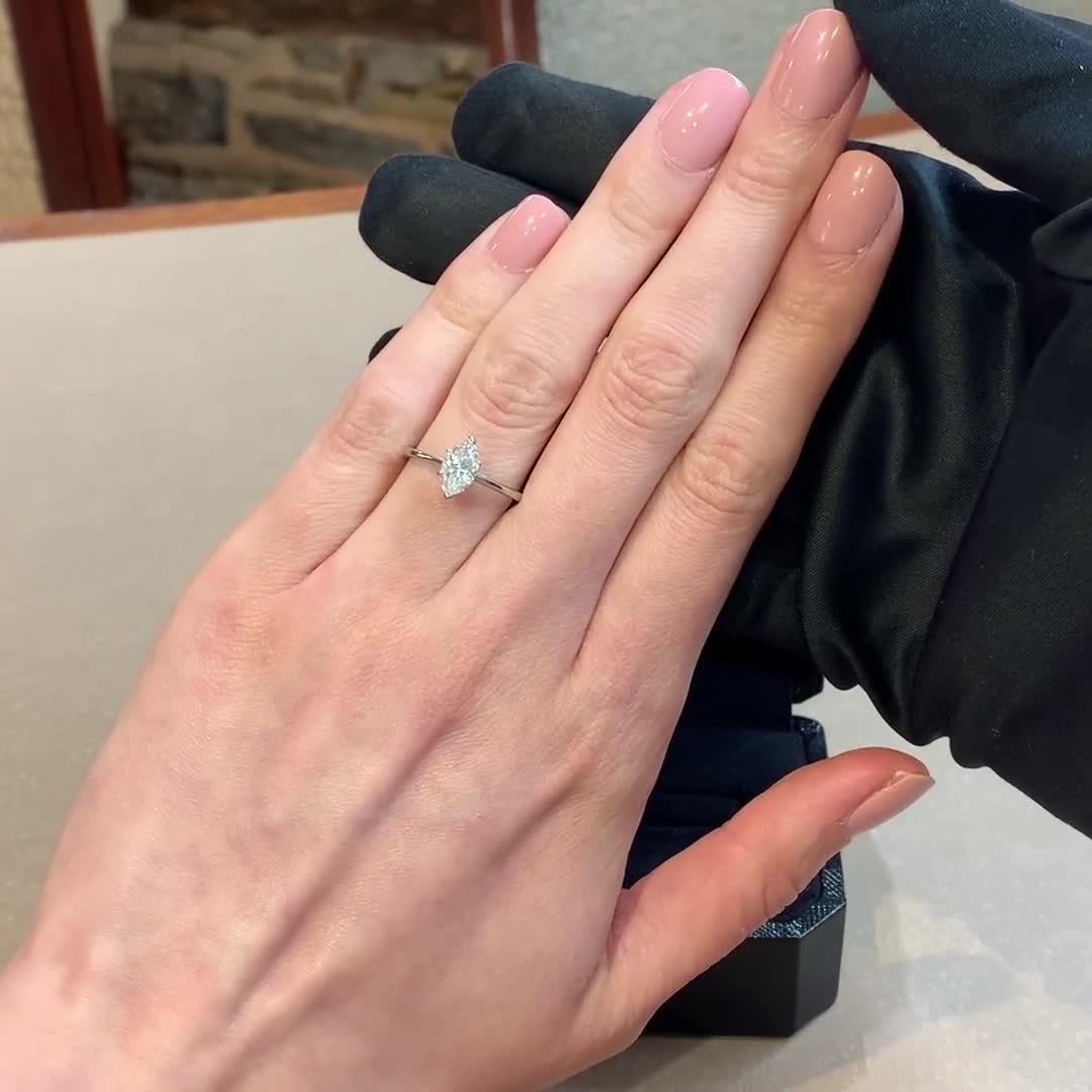 1.08CT Diamond Solitaire Ring<br /> Platinum Gaia Setting