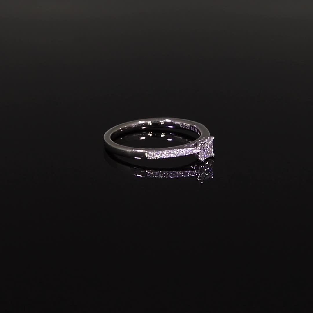 0.22CT Diamond Solitaire Ring<br /> Platinum Duchess Setting