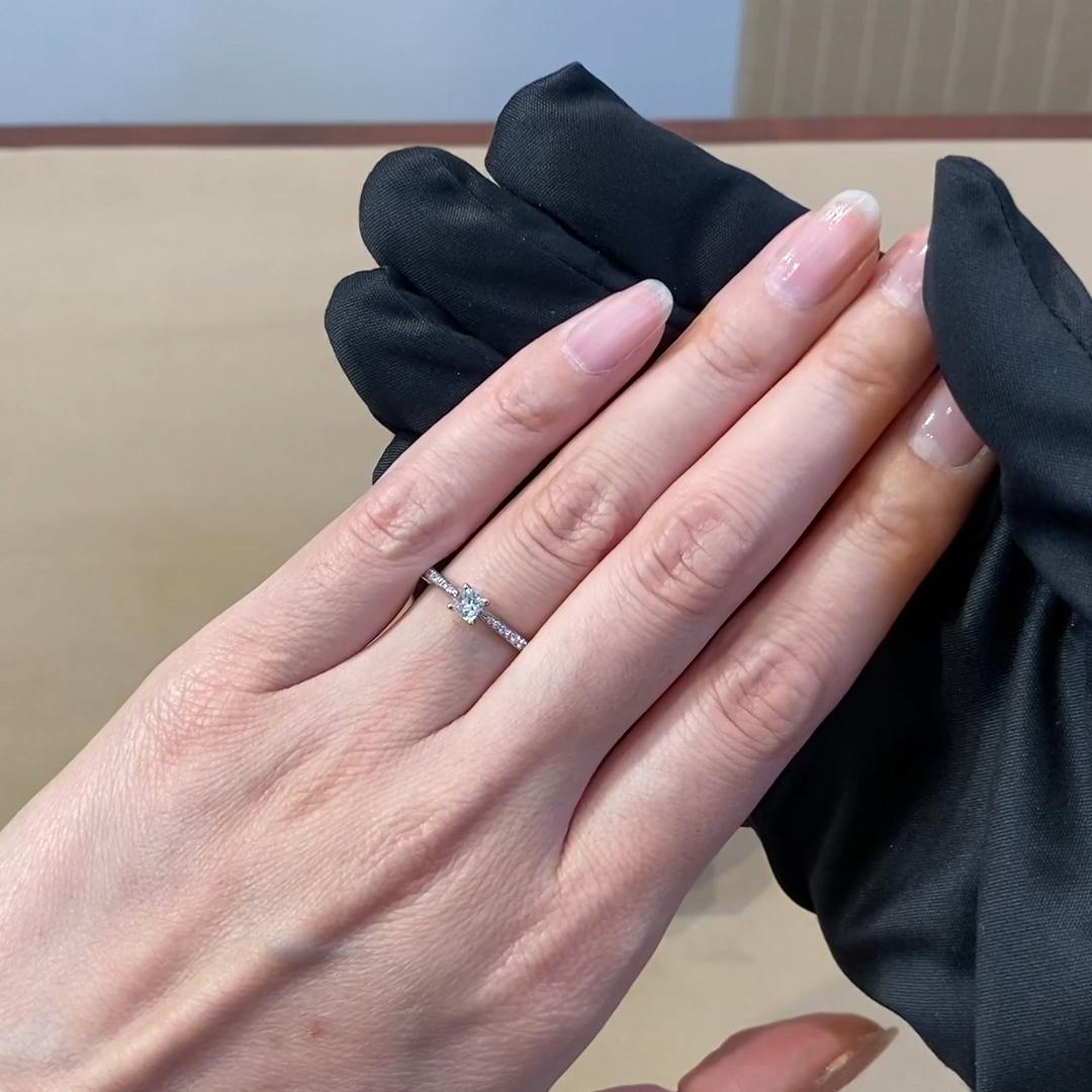 0.23CT Diamond Solitaire Ring<br /> Platinum Duchess Setting