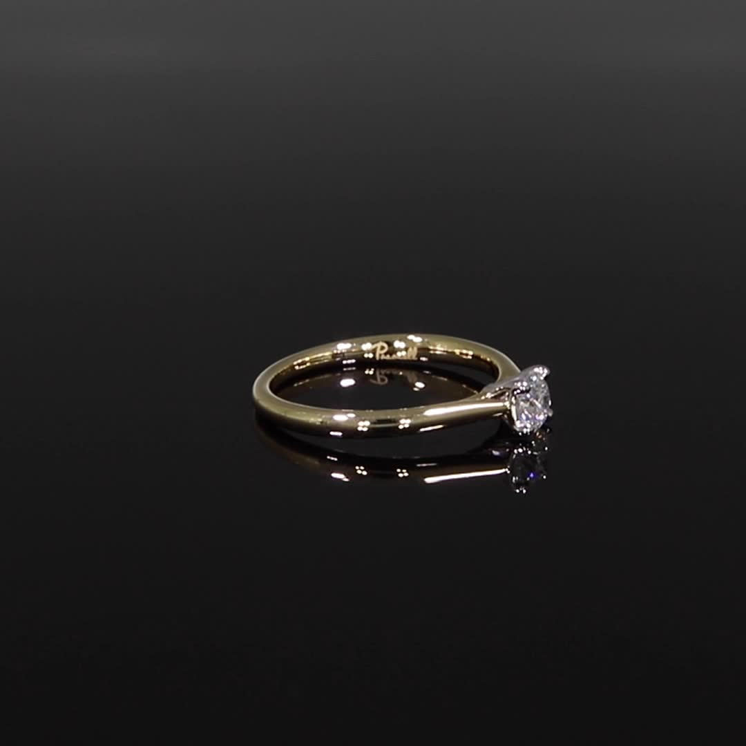 0.33CT Diamond Solitaire Ring<br /> Yellow Gold and Platinum Gaia Setting