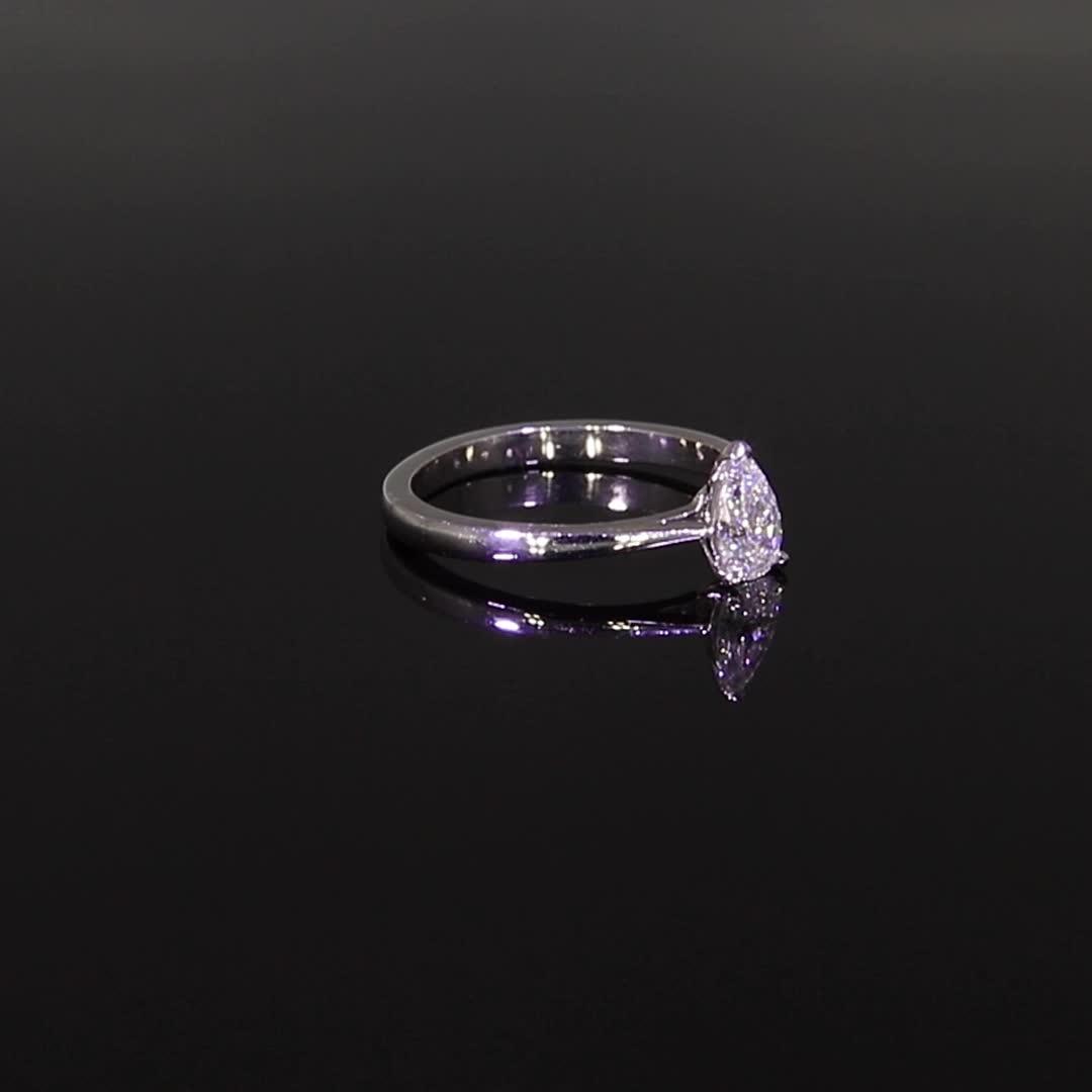 0.50CT Diamond Solitaire Ring<br /> Platinum Gaia Setting