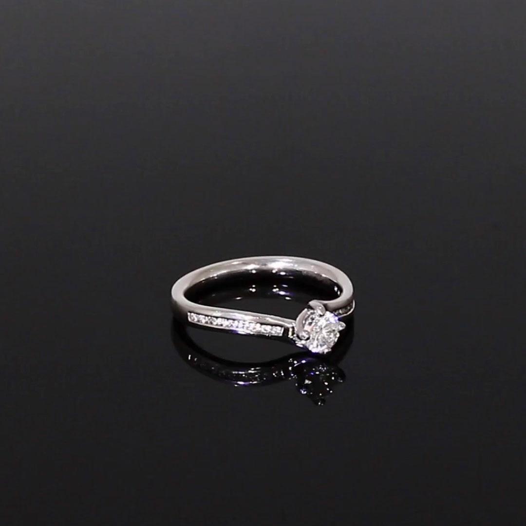 0.32CT Diamond Solitaire Ring<br /> Platinum Union Setting