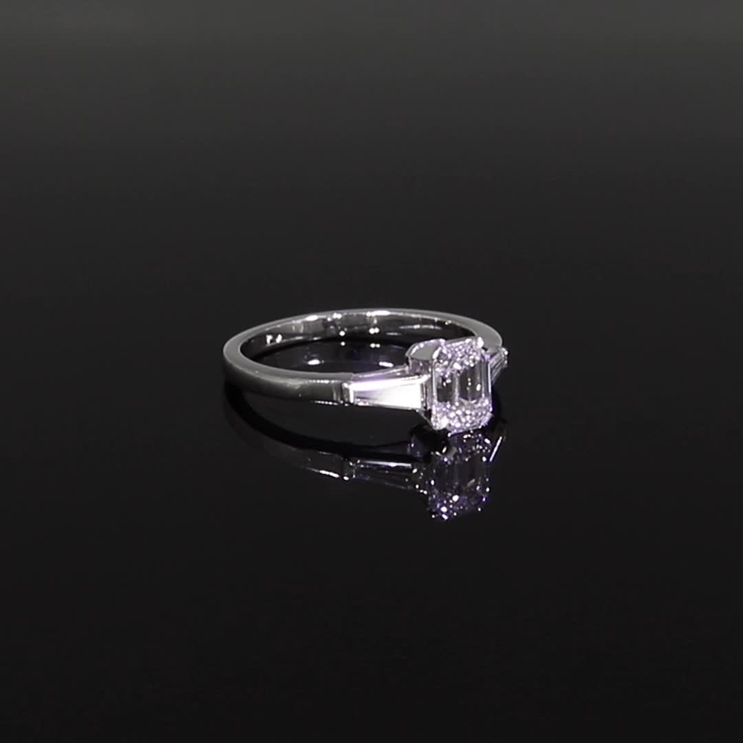 0.91CT Diamond Solitaire Ring<br /> Platinum Regency Setting