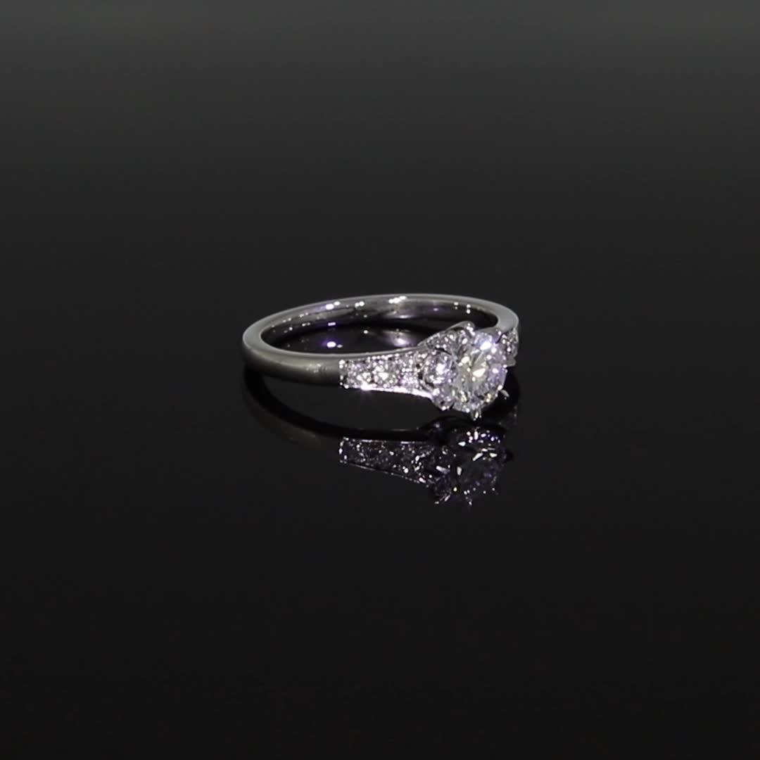 0.73CT Diamond Solitaire Ring<br /> Platinum Antrobus Setting