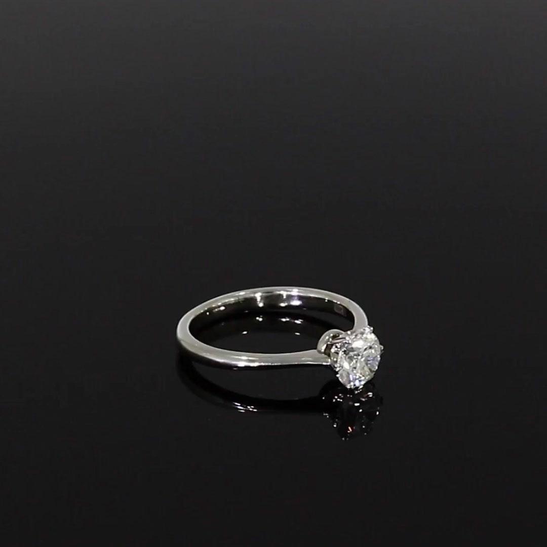 0.90CT Diamond Solitaire Ring<br />  in Platinum