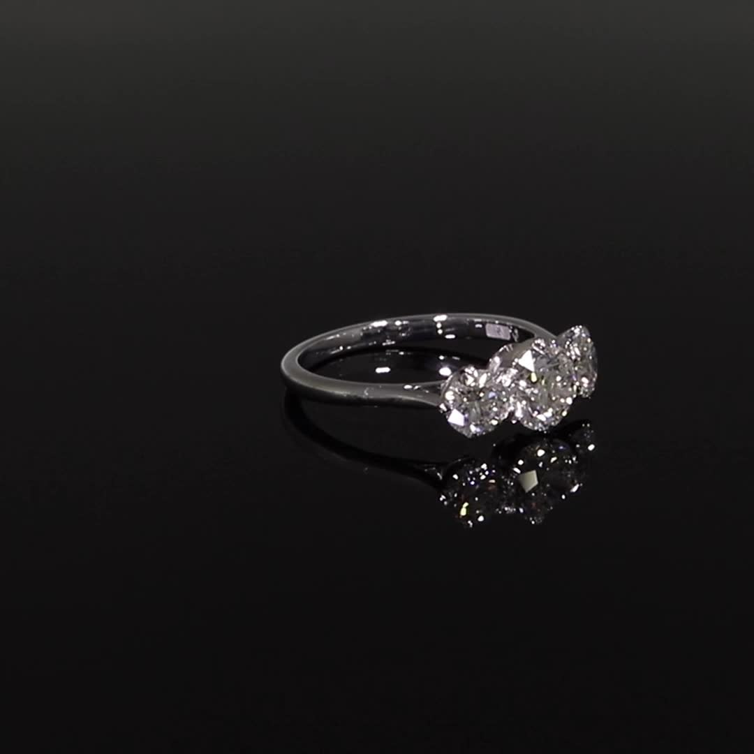 1.70CT Diamond Three-Stone Ring<br /> Platinum Coronet Setting