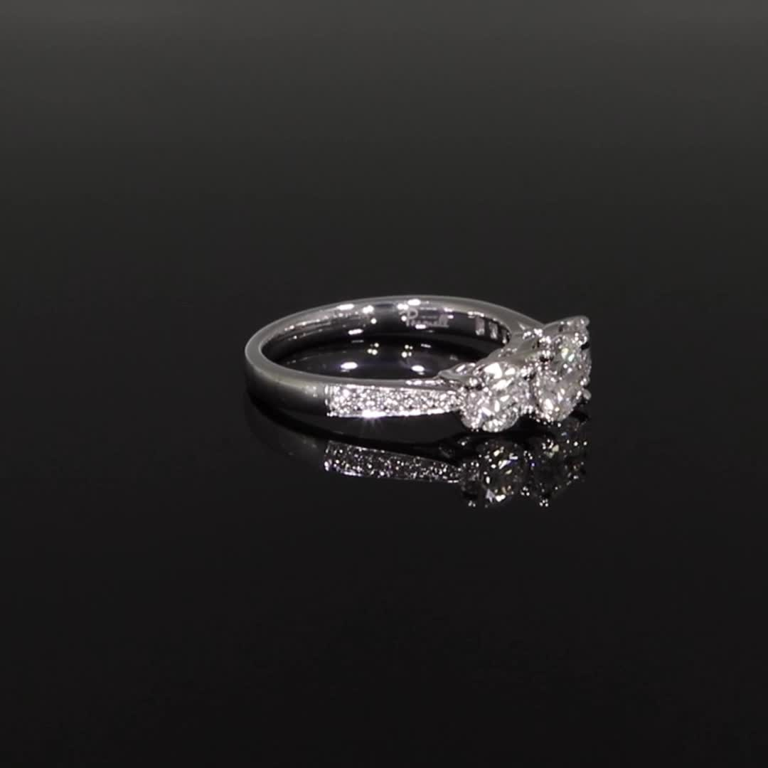 1.61CT Diamond Three-Stone Ring<br /> Platinum Duchess Setting