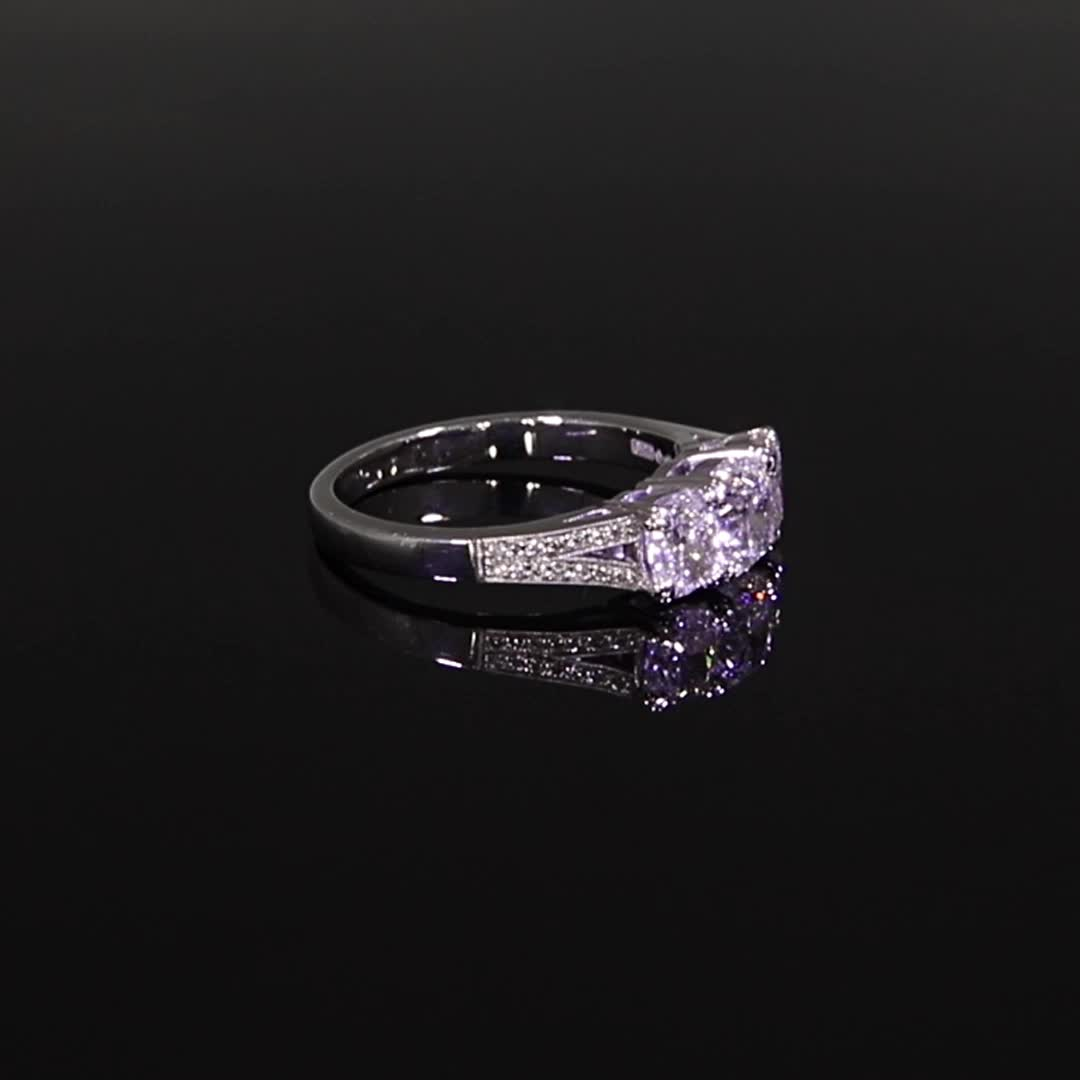 1.92CT Diamond Three-Stone Ring<br /> Platinum Imperial Setting