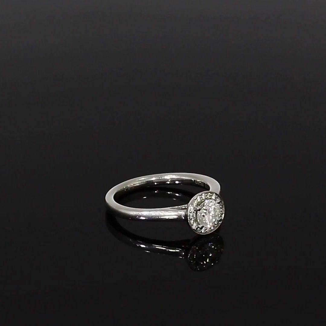 0.34CT Diamond Cluster Ring<br /> Platinum Setting