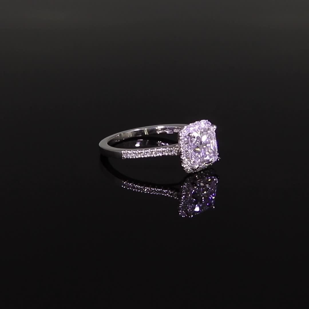 1.81CT Diamond Cluster Ring<br /> Platinum Celestial Setting