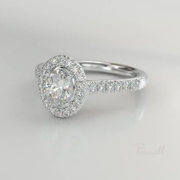 0.75CT Diamond Cluster Ring<br /> Platinum Celestial Setting