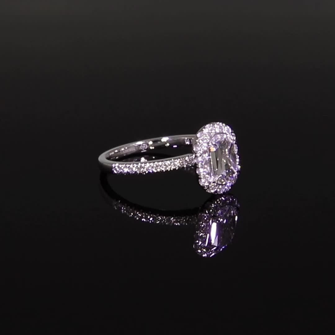 1.00CT Diamond Cluster Ring<br /> Platinum Celestial Setting