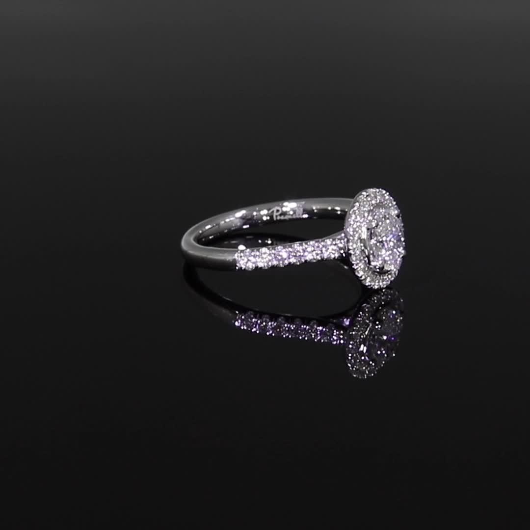 0.50CT Diamond Cluster Ring<br /> Platinum Celestial Setting
