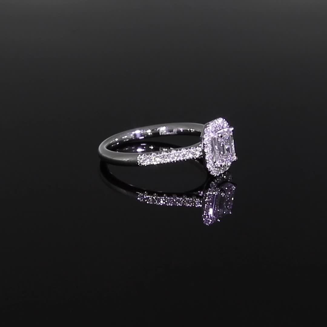 0.59CT Diamond Cluster Ring<br /> Platinum Celestial Setting