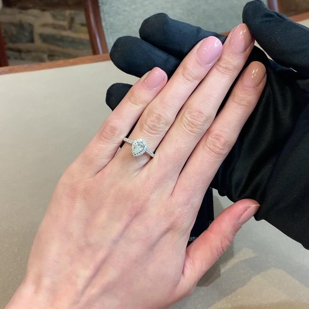 0.58CT Diamond Cluster Ring<br /> Platinum Celestial Setting