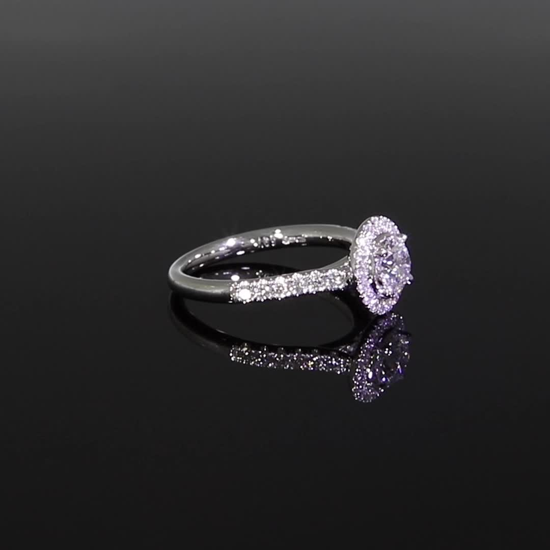 0.61CT Diamond Cluster Ring<br /> Platinum Celestial Setting