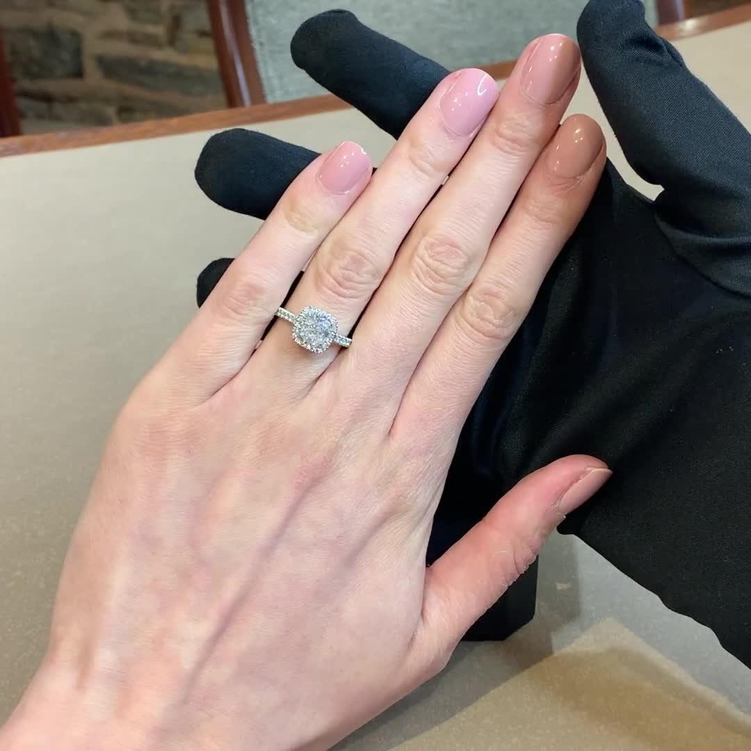 1.50CT Diamond Cluster Ring<br /> Platinum Celestial Setting