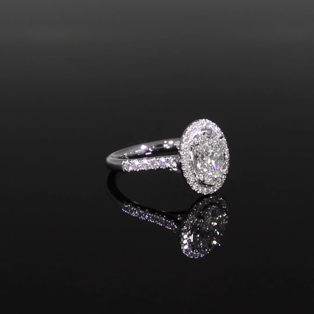 1.70CT Diamond Cluster Ring<br /> Platinum Celestial Setting