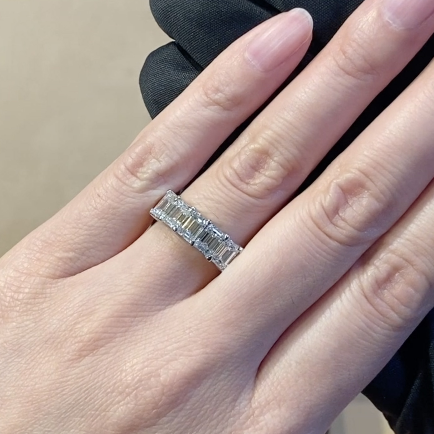 Emerald Cut Five Stone Diamond Ring <br /> 3.00CT in Platinum