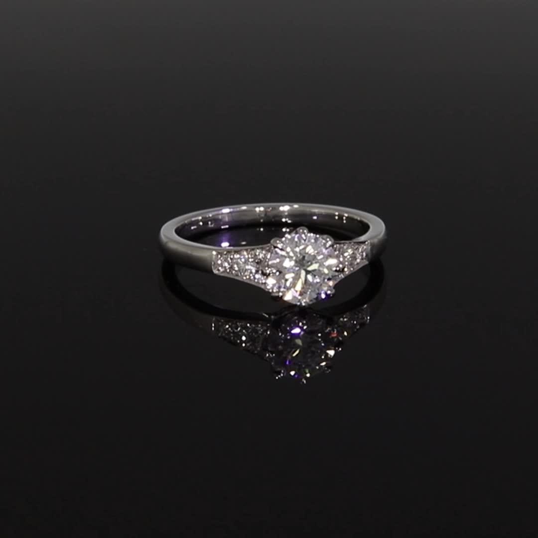 1.00CT Diamond Solitaire Ring<br /> Platinum Antrobus Setting