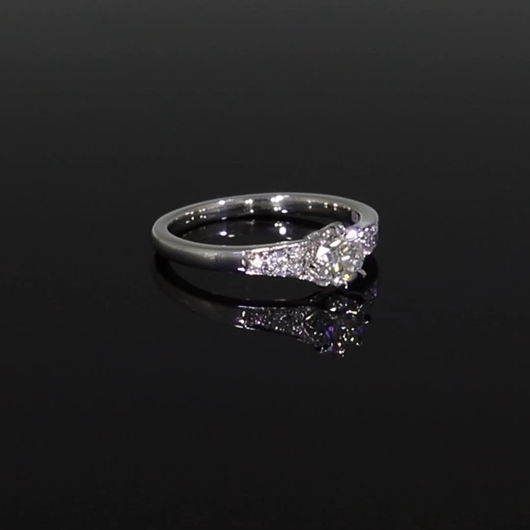 0.53CT Diamond Solitaire Ring<br /> Platinum Antrobus Setting