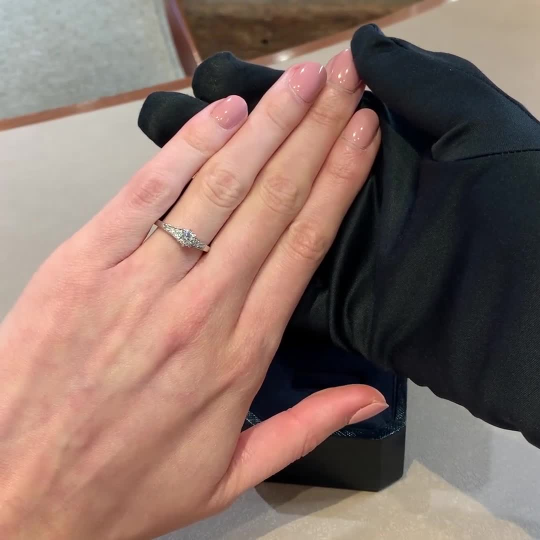0.50CT Diamond Solitaire Ring<br /> Platinum Antrobus Setting