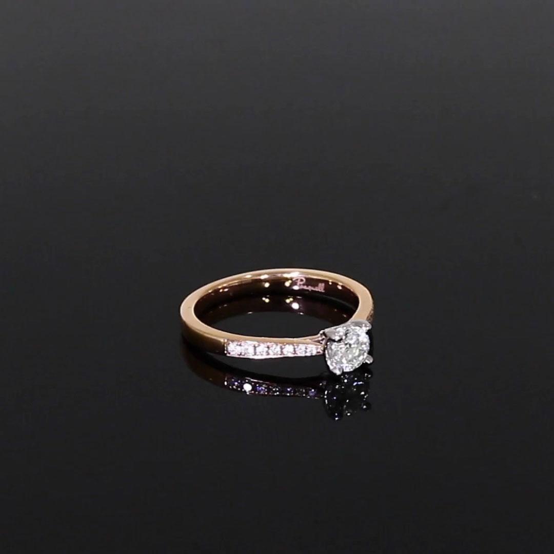 0.40CT Diamond Ring<br /> Rose Gold and Platinum Duchess Setting