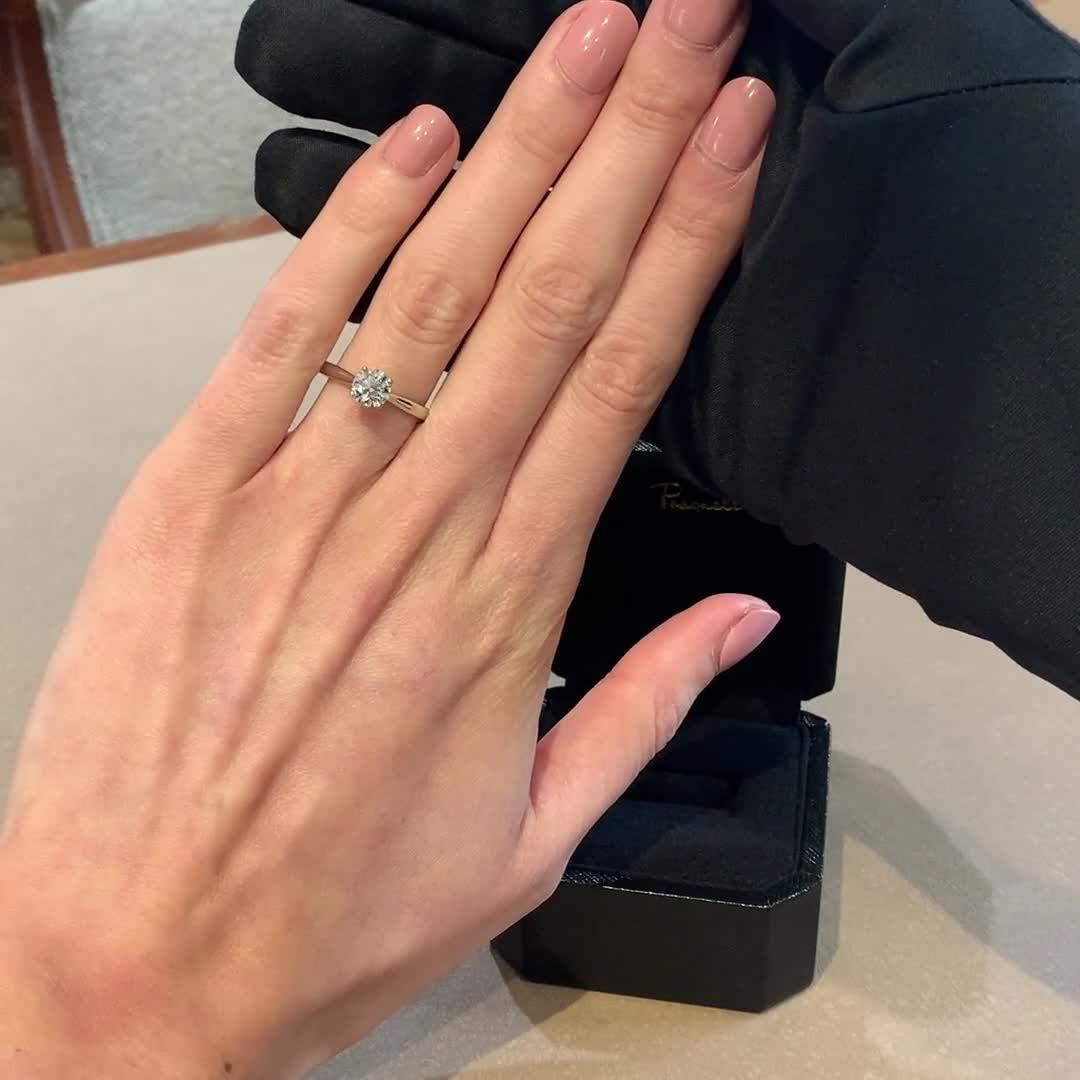 1.00CT Diamond Solitaire Ring<br /> Platinum Gaia Setting