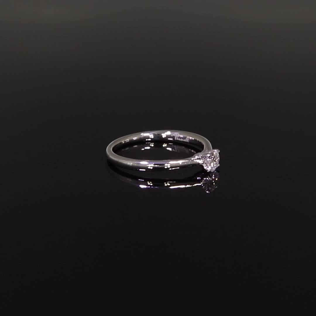 0.21CT Diamond Solitaire Ring<br /> Platinum Gaia Setting