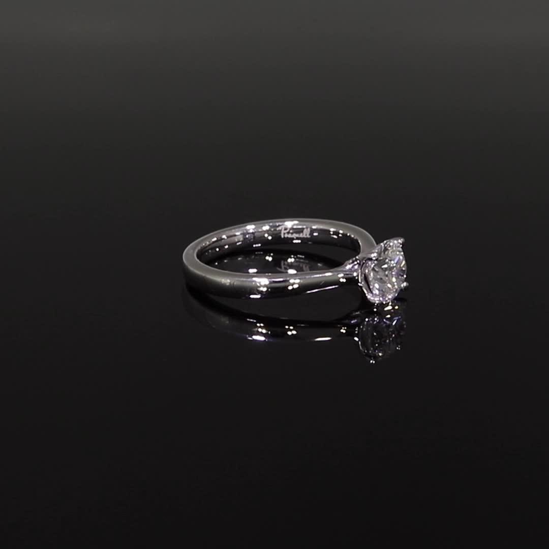 1.01CT Diamond Solitaire Ring<br /> Platinum Gaia Setting