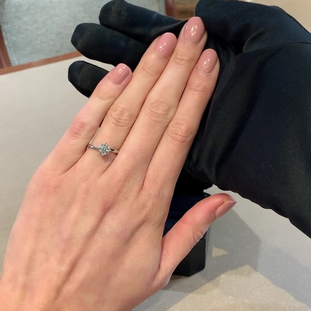 0.90CT Diamond Solitaire Ring<br /> Platinum Union Setting