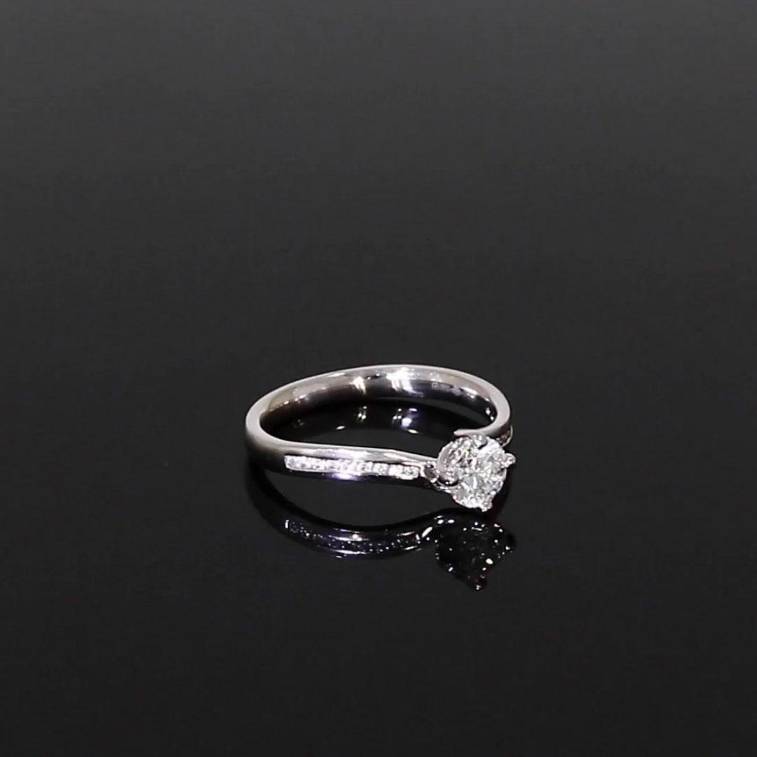 0.60CT Diamond Solitaire Ring<br /> Platinum Union Setting
