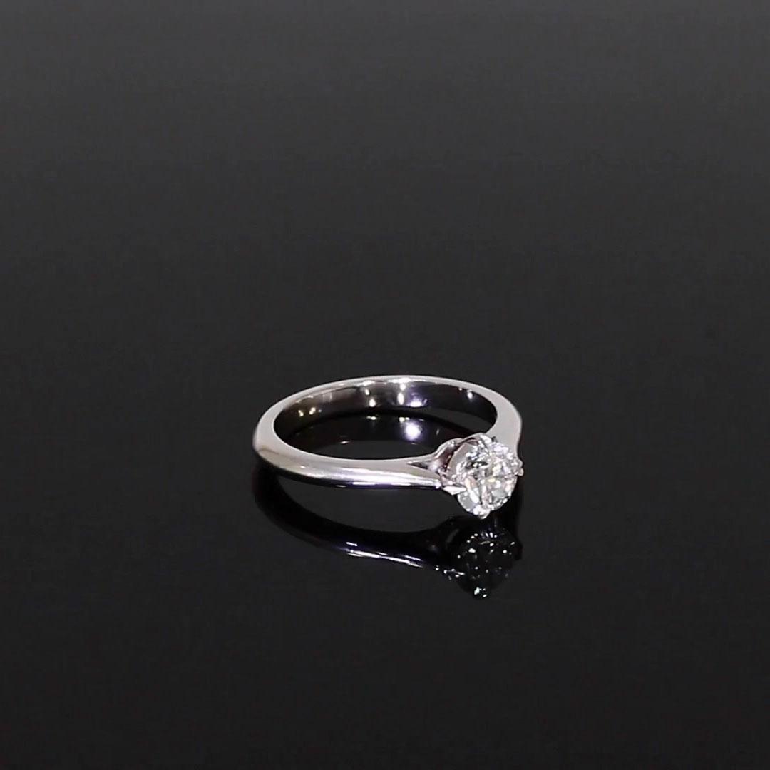 0.70CT Diamond Solitaire Ring<br /> Platinum Windsor Setting