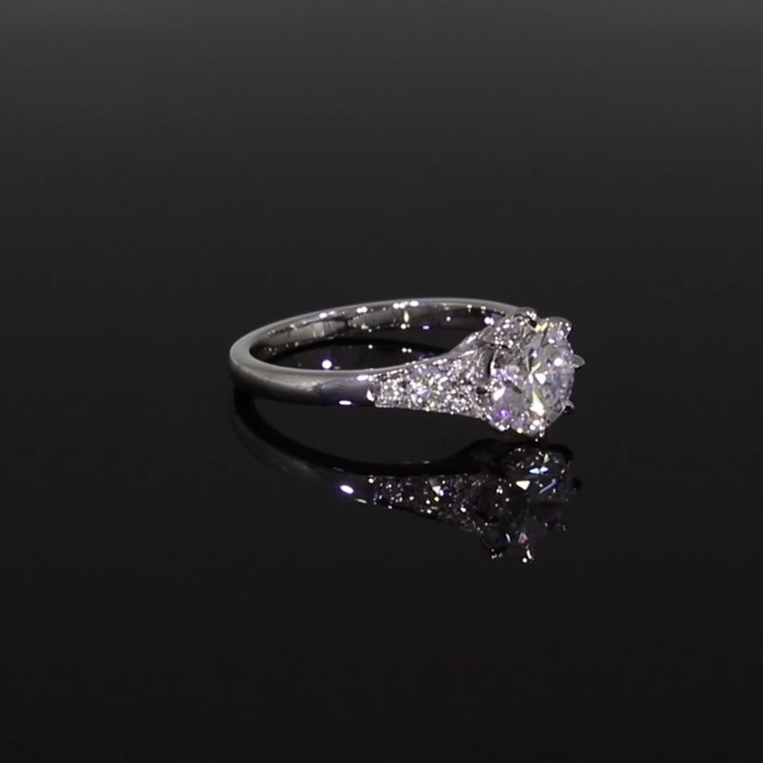 1.51CT Diamond Solitaire Ring<br /> Platinum Antrobus Setting