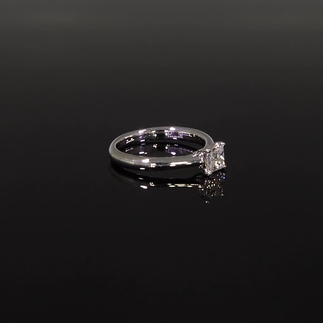 0.51CT Diamond Solitaire Ring<br /> Platinum Gaia Setting