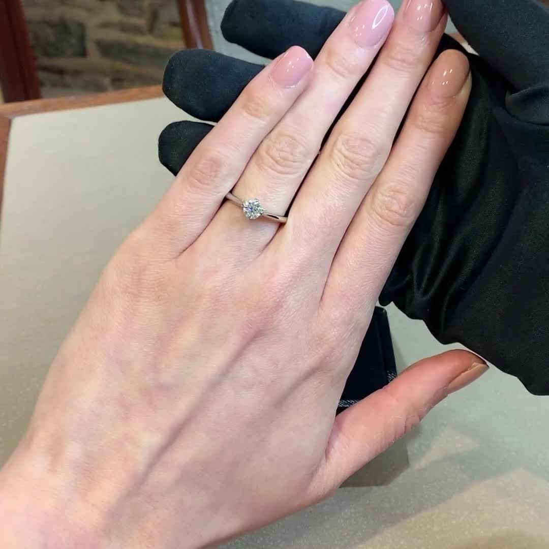 0.60CT Diamond Solitaire Ring<br /> Platinum Windsor Setting