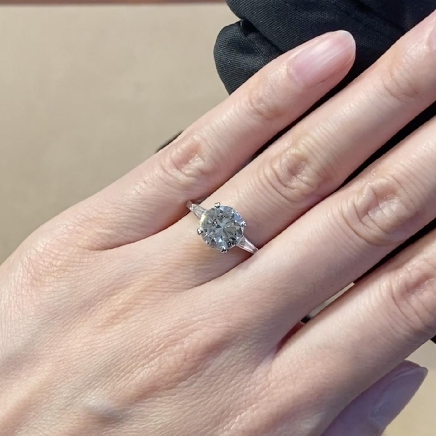 Diamond Ring 2.46ct in Platinum