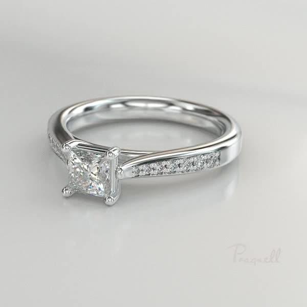 0.36CT Diamond Solitaire Ring<br /> Platinum Duchess Setting