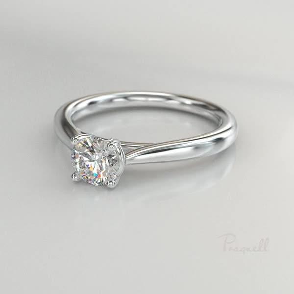 0.90CT Diamond Solitaire Ring<br /> Platinum Gaia Setting