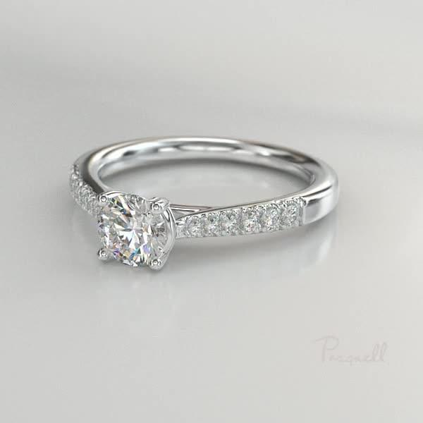 0.90CT Diamond Solitaire Ring<br /> Platinum Celestial Setting