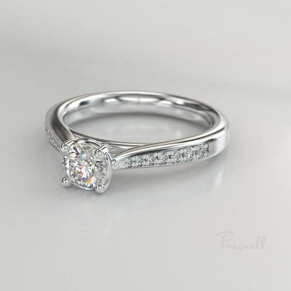 0.70CT Diamond Solitaire Ring<br /> Platinum Duchess Setting