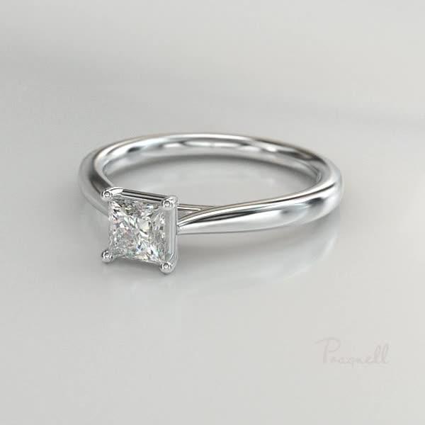 0.70CT Diamond Solitaire Ring<br /> Platinum Gaia Setting