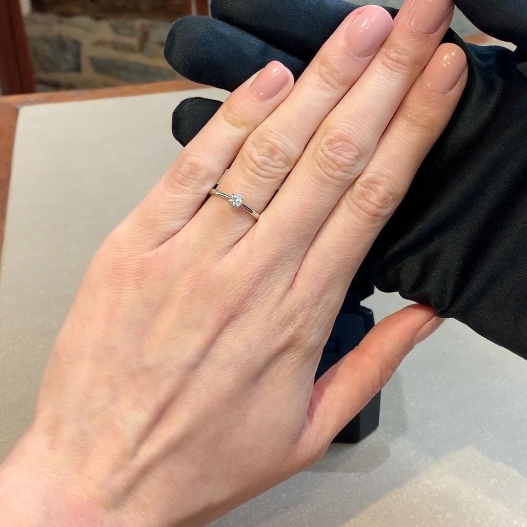 0.20CT Diamond Solitaire Ring<br /> Platinum Gaia Setting