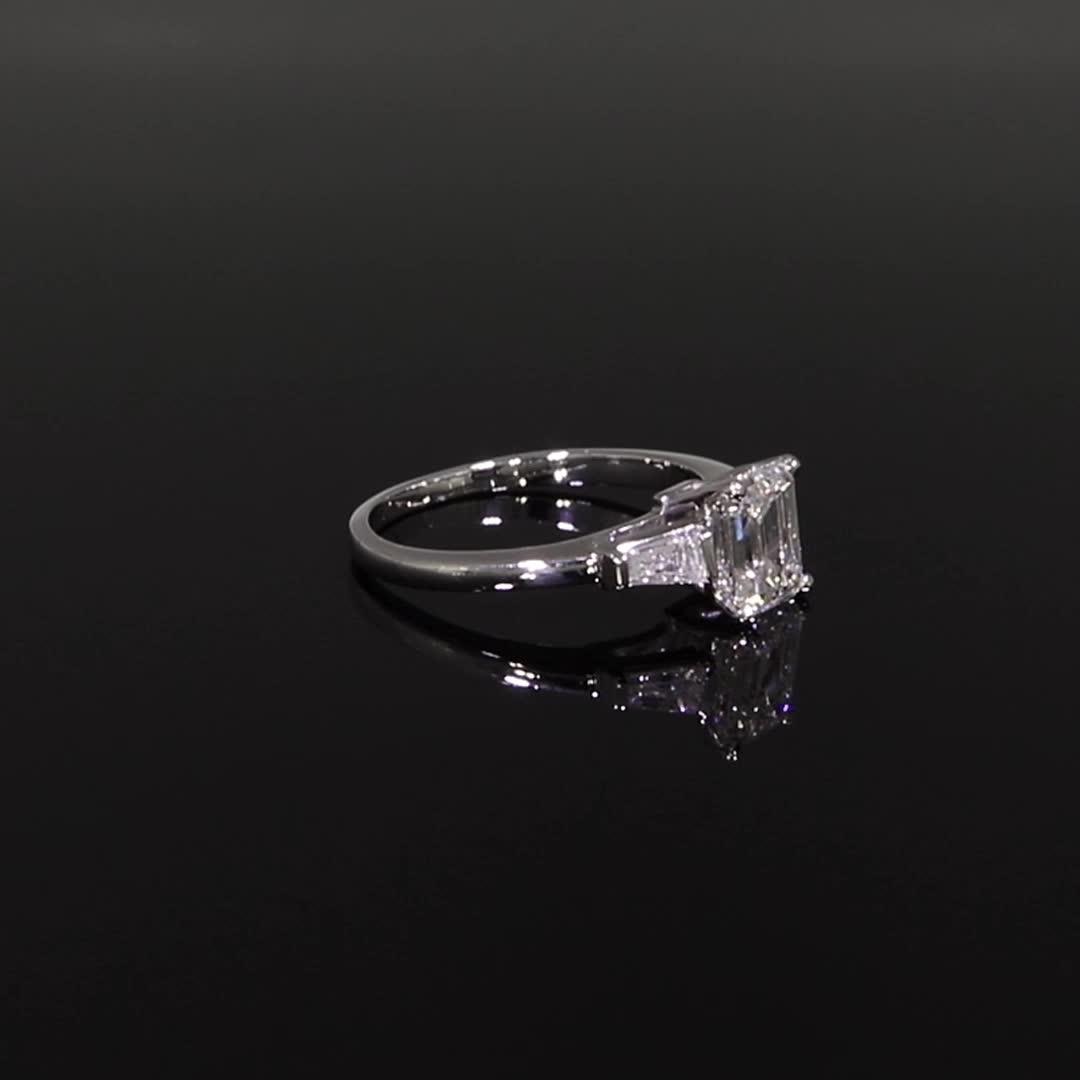 1.50CT Diamond Solitaire Ring<br /> Platinum Regency Setting