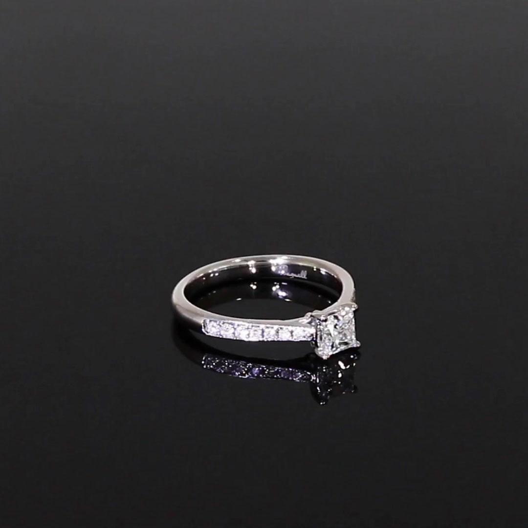 0.50CT Diamond Solitaire Ring<br /> Platinum Duchess Setting