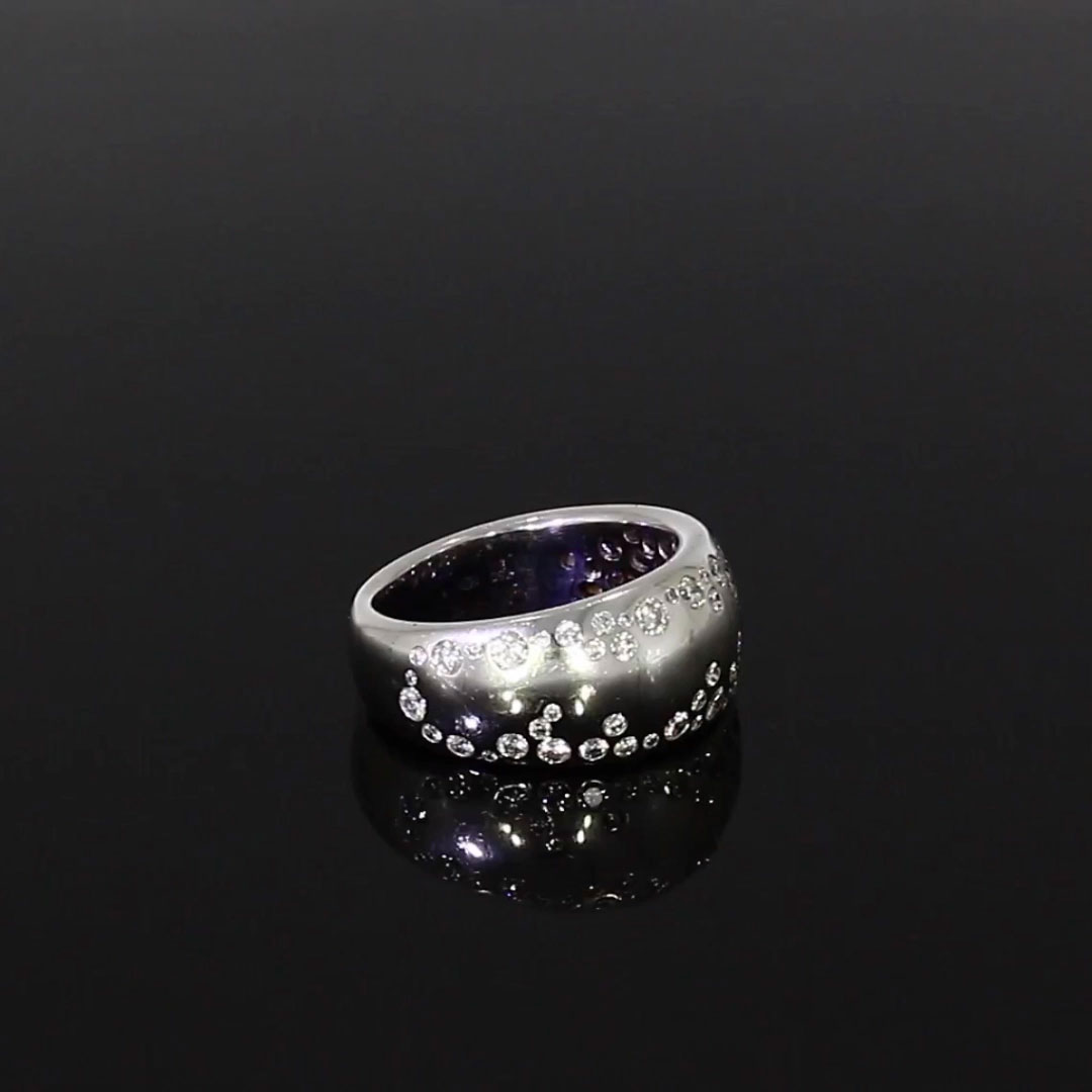 Diamond Dress Ring<br /> 1.04CT in White Gold