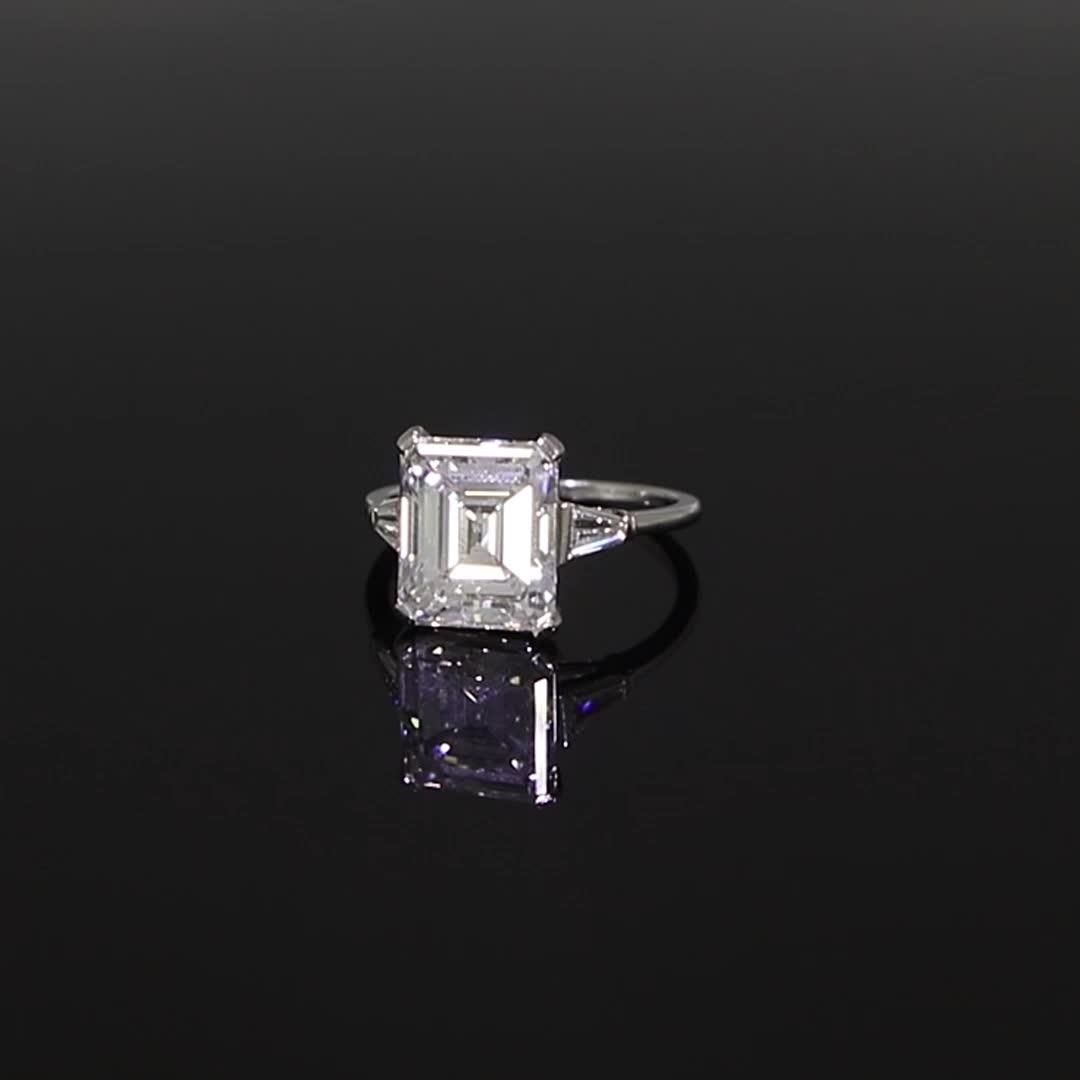 Art Deco Diamond Ring<br /> 4.86CT in Platinum